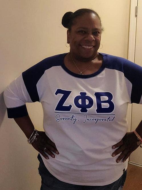 Royal/White ZΦΒ Zeta T-Shirt