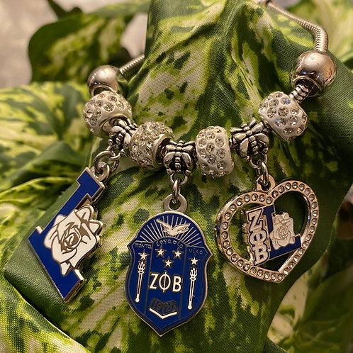 Zeta Phi Beta Life Member Beaded Bracelet