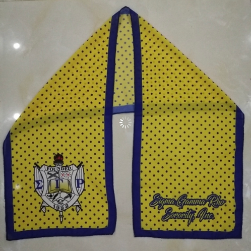 SGRho Gold Dotted Chiffon Scarf