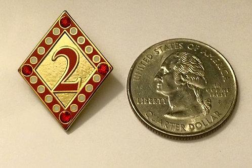 Kappa Alpha Psi Line No. 2 Lapel Pin