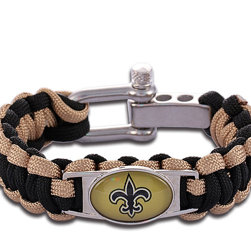 Saints Corded Bracelet