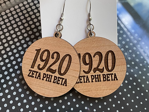 Zeta 1920 Wood Earrings
