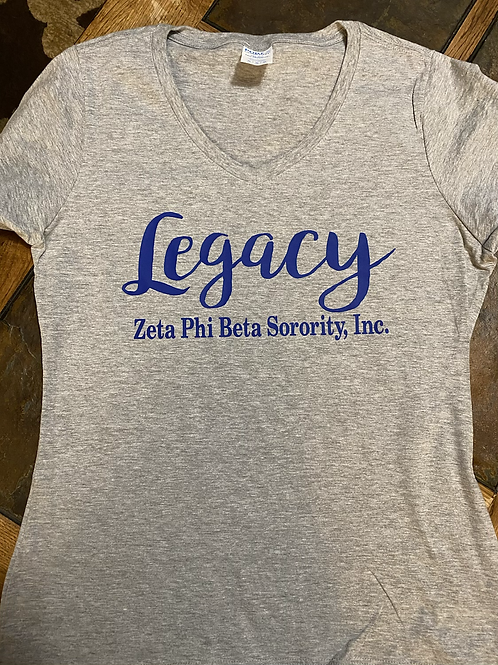 Zeta legacy V-Neck T-Shirt Bundle (T-Shirt and Pair of Earrings)