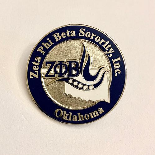 Zeta Phi Beta Oklahoma Lapel Pin
