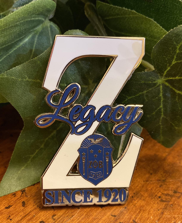 Zeta Legacy Z Lapel Pin