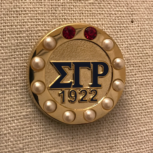 Sigma Gamma Rho 1922 Pearls and Rubies Lapel Pin