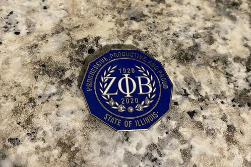 Zeta Illinois Lapel Pin