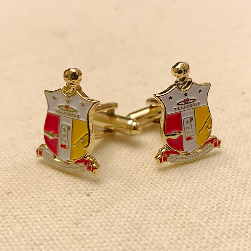 Kappa Alpha Psi Shield Cufflinks