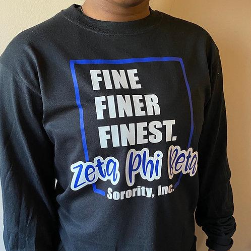 Zeta Fine Finer Finest 2 T-shirt (Black)