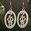 Thumbnail: Zeta Oval White Acrylic Earrings