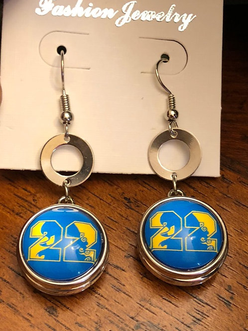 Sigma Gamma Rho Snap Earrings