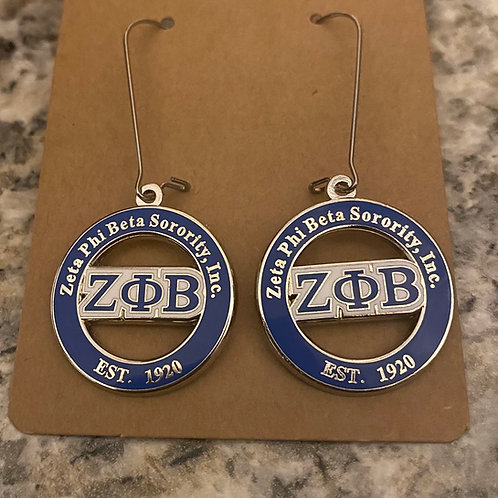 Zeta Phi Beta Est. 1920 Earrings