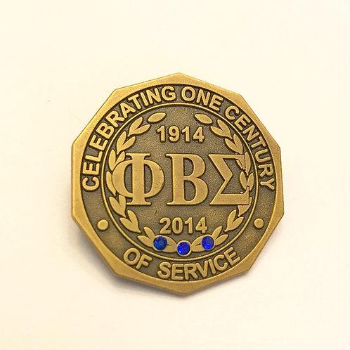 Phi Beta Sigma Centennial Lapel Pin