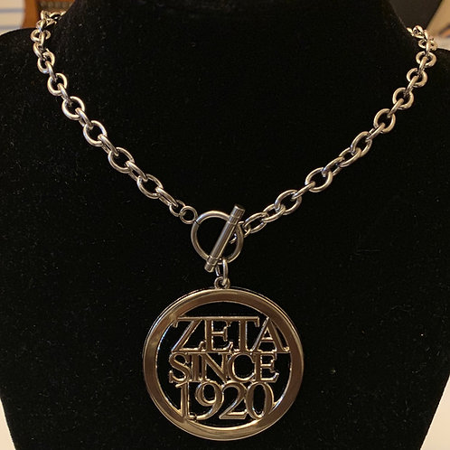 Zeta Since  (2010-2020) Stainless Toggle Necklace