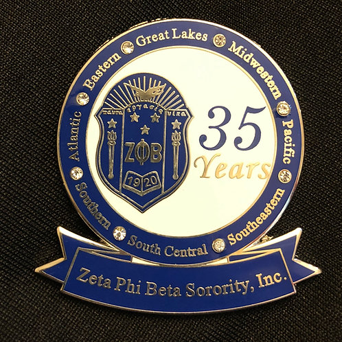 Zeta 35 Years Lapel Pin