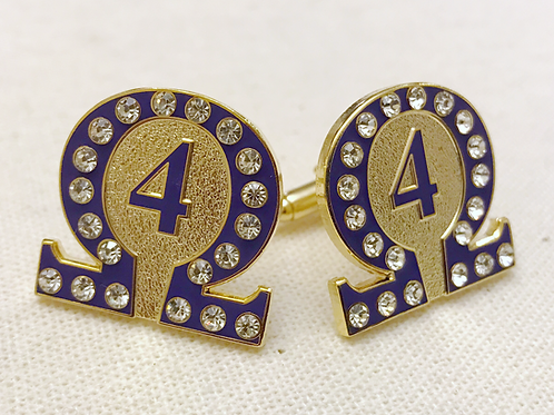 Omega Psi Phi Line Number 4 Cufflinks