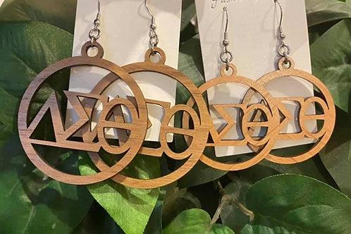 Delta Wood Earrings