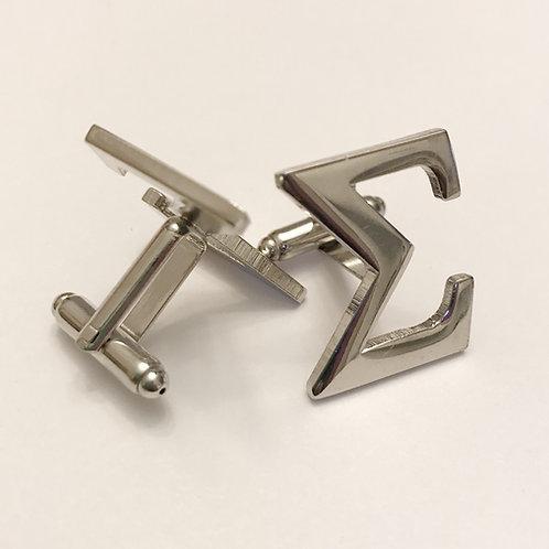 Phi Beta Sigma Silver Cufflinks