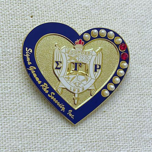 Sigma Gamma Rho Heart Lapel Pin