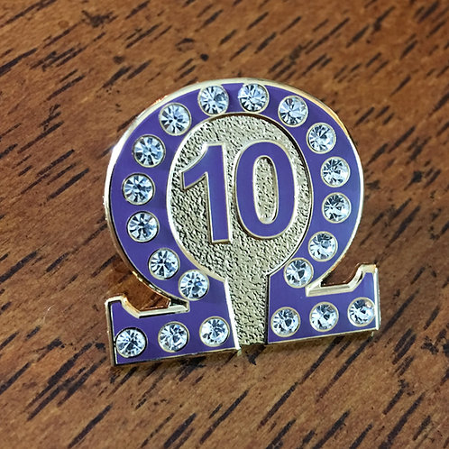 Omega Psi Phi Line Number 10 Lapel Pin