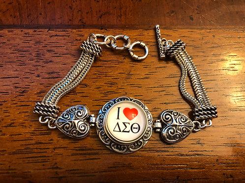 DST Heart Snap Bracelet