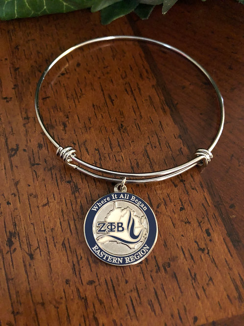 Zeta Southeastern Region Bangle Bracelet