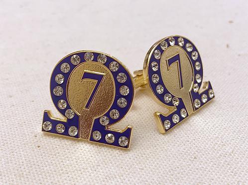 Omega Psi Phi Line Number 7 Lapel Pin
