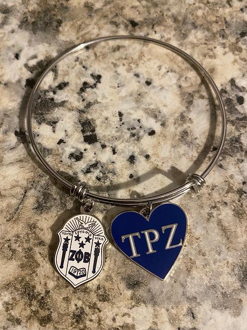 TPZ Zeta Shield Bangle Bracelet