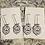 Thumbnail: Zeta Phi Beta White Mini Shield Earrings