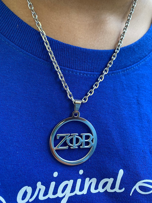 Zeta Letter Stainless Necklace (35mm)