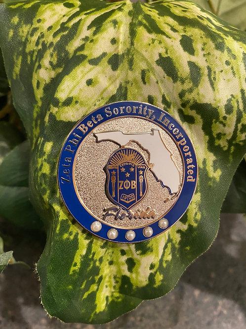 Zeta Florida State Pin