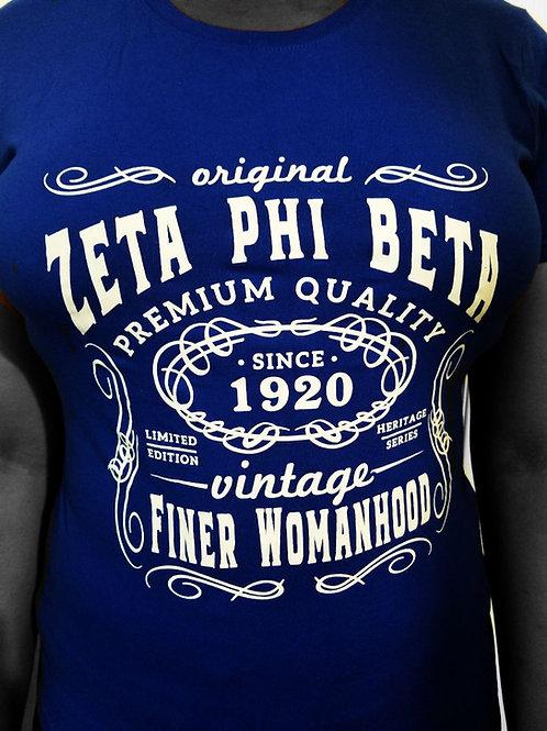 Zeta Phi Beta Vintage T Shirt