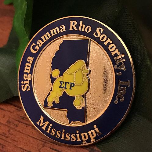 Sigma Gamma Rho Mississippi Lapel Pin