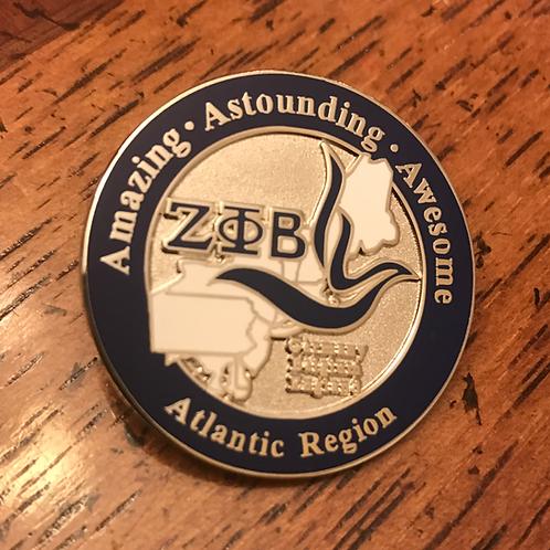 Zeta Phi Beta Atlantic Region Pin