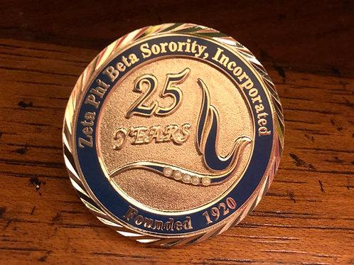 Zeta 25 Year Anniversary Lapel Pin