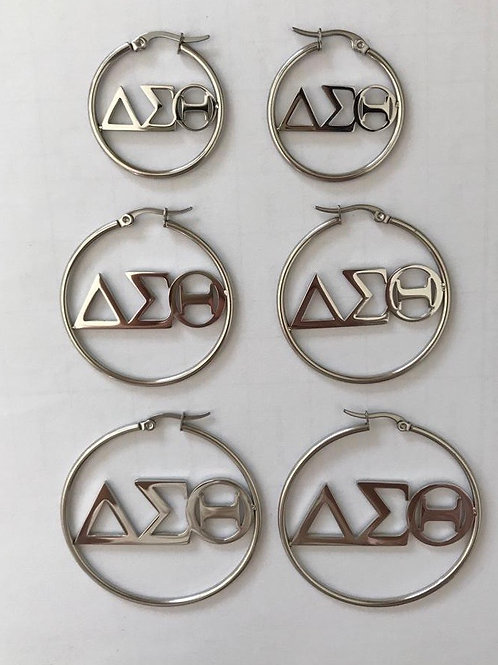 Delta Sigma Theta Hoop Earrings