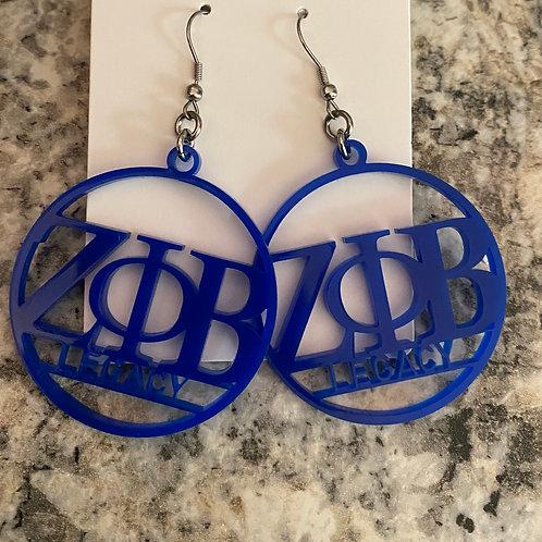 Zeta Legacy Acrylic Earrings