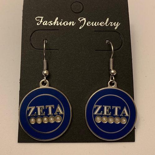 Zeta 5 Pearls Earring