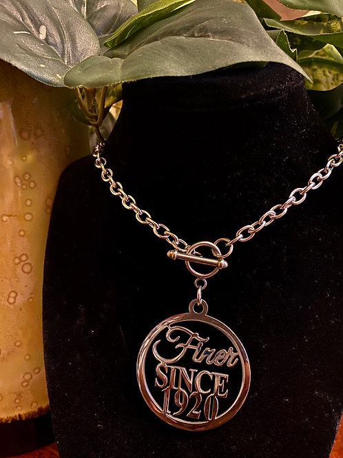 Finer Since 1920 stainless Toggle Necklace (45mm)