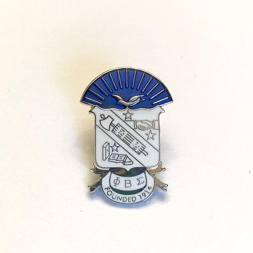 Phi Beta Sigma Shield Lapel Pin