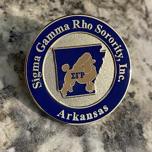 Sigma Gamma Rho Arkansas Lapel Pin