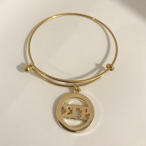 Sigma Gamma Rho Letter Stainless Steel Bracelet