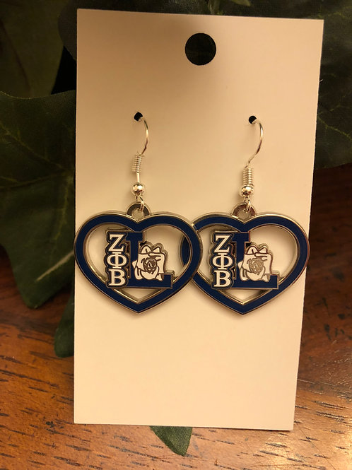 Zeta Life Member Earrings