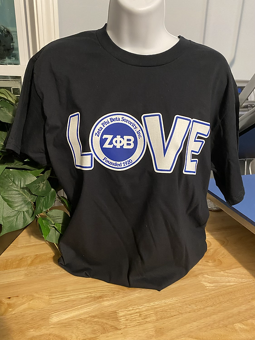 Black LOVE Zeta T-Shirt