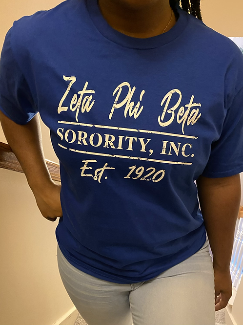 Zeta Phi Beta Sorority, Inc.  T-shirt