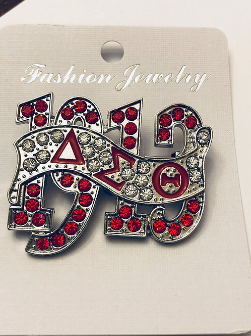 DST 1913 Crystal Lapel Pin