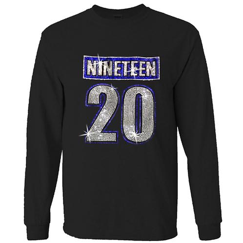Zeta 1920 Bling T-Shirt - Long Sleeve