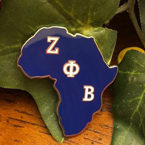Zeta Phi Beta Africa Lapel Pin