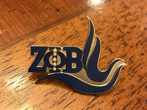 Zeta Phi Beta Dove Pearl Lapel Pin