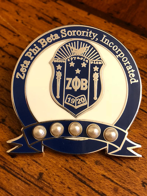 Zeta Phi Beta 5 Pearls Lapel Pin